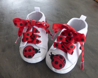 Ladybug Baby Shoes - Available in Size 0 to 3 months & 3 to 6 months