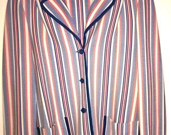 Vintage 1980s red, blue and white striped Jacket Blazer