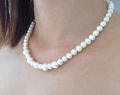 water pearl necklace, glass pearl, Bridesmaid Necklace, Bridesmaid Jewelry, Wedding Jewelry,bridesmaid gift
