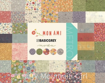 Mon Ami Fat Quarter Bundle by BasicGrey for Moda Fabrics