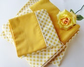 Vintage Sheet Set Full Double Bed Size Gold Gingham Cannon Monticello No Iron Muslin Fitted, Flat, 2 Standard Pillowcases