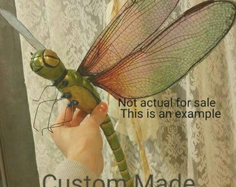 Made to Order Ooak Dragonfly Custom sculpt