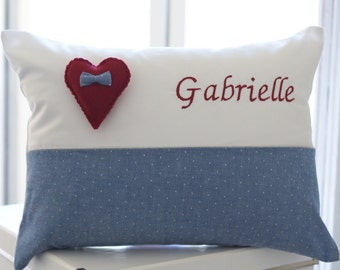 Child pillow - Gabrielle / Birth gift / Baby gift / Toddler gift / Boy Girl / Bedroom decoration