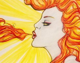 Fire Breather Canvas Art Print