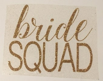 Bride Squad iron-on decals