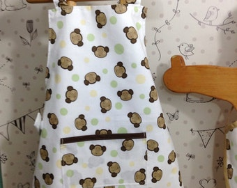 Monkey Toddler Apron