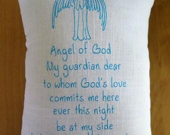 Guardian Angel Prayer Pillow