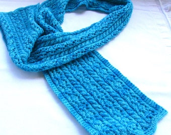 Lace and Cable Scarf PDF Pattern
