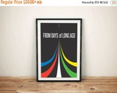 GEEKLOVE SALE Five Lions: 80s Inspired Retro Art // Red, Yellow, Green, White and Blue Minimalist Graphic Voltron Prin
