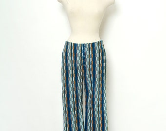 Womens 70's Style Bell Bottom Pants / 1960s mod  / 70s   / Flower child / Boho / Colorful /Hippy /Vintage
