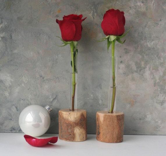Test tube vase rustic bud vase set of two flower vase for Test tube vase