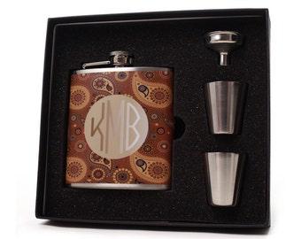 Flask Gift Set // Paisley Design
