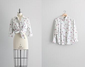 50s Womens Levis Shirt . Ranch Hand Button Up Shirt . Floral Print Cowgirl Shirt