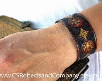 Original design hand made leather cuff