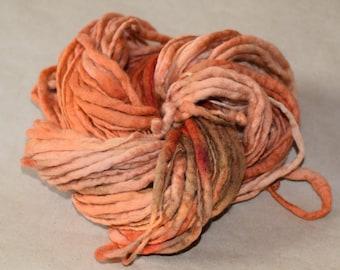 SALE - MERINO Thick and Thin Yarn - Spicy Pumpkin