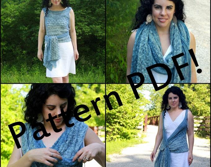 Mashrabiya Lace Vest/Shawl/Scarf: PDF Knitting Pattern by The Sexy Knitter