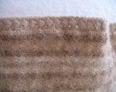 Mon Repos 100% Alpaca Blanket Handmade in Peru Brown Stripes