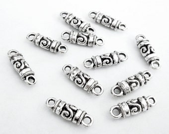 20-Antiqued Silver Tibetan Style Connector Jewelry Making Supply.