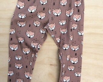 Organic cotton stretch Foxy unisex leggings