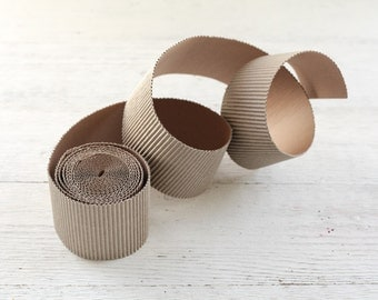 Corrugated Cardboard Roll - 4 Yards of 3 Inch Paper Craft Trim