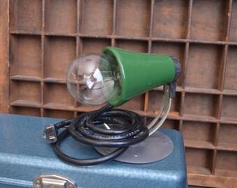 Vintage Desk Lamp Vintage Industrial Desk Lamp Green Black Mid Century Shop Light Garage Light Vintage Lamp  Wall Mounted Metal Sconce