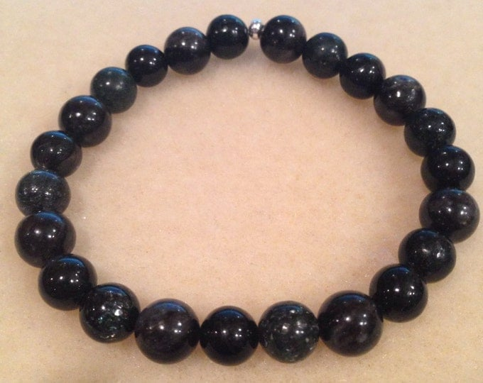 Make Magic Arfvedsonite, Astrophyllite & Hypersthene 8mm Bead Bracelet