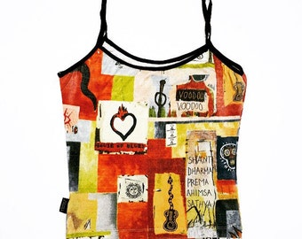 90's VOODOO Themed Collage Tank Top // S - M