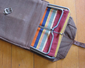 French Portable Camp Seat with Woven Case for the Hipster in your life