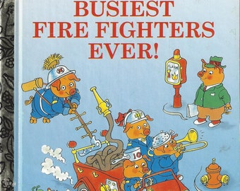 Richard Scarry's Busiest Fire Fighters Ever!, Little Golden Book, Vintage Children's Book, C1995