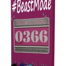 Running race bib and medal holder : Beast Mode graphic #beastmode