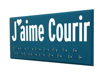 I love to run: running medals holder, J'aime Courir french medal holder