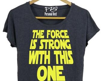 Running slim fit shirt for women - running shirt for women's - running shirt - The force is strong with this one
