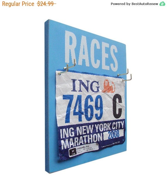 A Race Bibs Rack will enhance your Display