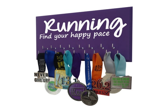 Running Medals Display Rack to show you're achievement - Find your happy pace