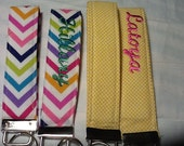 Key Fob - Key Chain -  Fabric Key Fob -  Wrist Lanyard- Key Fob Wristlet - Key Fob Keychain
