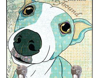 Pop Art Italian Greyhound Leash Hook Pet Leash Hook Dog Leash Collar Hook Organizer Leash Hook Holder