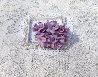 Scrapbooking, Mulberry Paper Flowers, Lavender, Wedding, Mixed Media