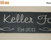 SALE Hand painted Personalized Family Established Wood Sign- Vinyl Lettering wall words graphics Home decor itswritteninvinyl