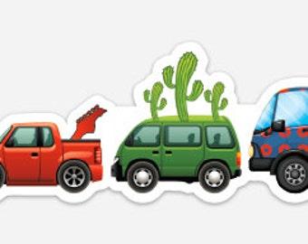 Cars Trucks Buses Sticker