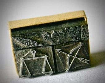 Vintage Letterpress Romantic Images for Printing Stamping and Clay Stamping
