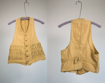 Vintage Vtg Vg 1950's 50's Utica New York Canvas Hunting/Fisherman's Vest Men's Size 44 Made in the USA Rustic/Outdoorsman