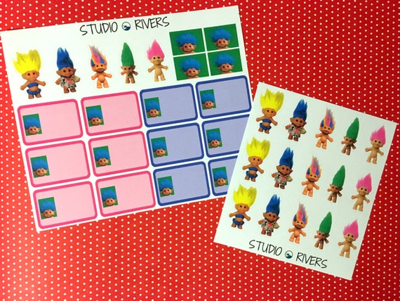 Trolls Planner Sticker Sets
