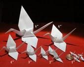 Custom order for Gigi - Size sampler of white cranes