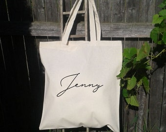 Personalized Wedding Totes, Bride, Bridesmaid, Maid of Honor, Names or Titles