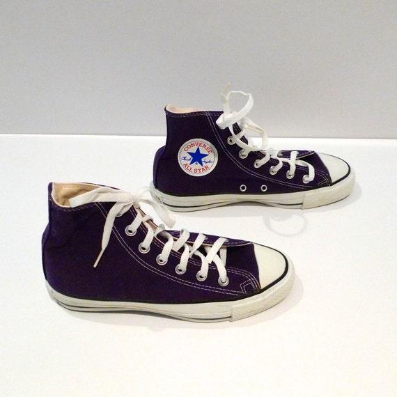 5edfcc28d351 80%OFF Purple Converse Hi tops Vintage Chuck Taylor All Star Hi ...