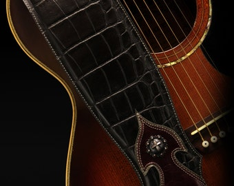 Custom Leather Guitar Strap:  Imperial Guitar Strap