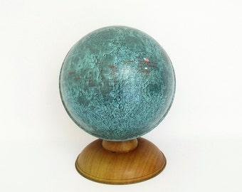 Vintage Commemorative Moon Globe by Ohio Art c1969