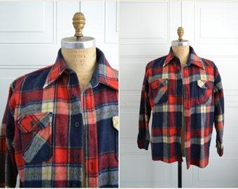 1970s Ventura Wool Blend Flannel Shirt