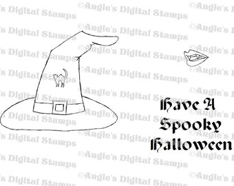 Halloween Digital Stamp Set