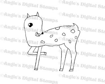 Deer Fawn Digital Stamp Image